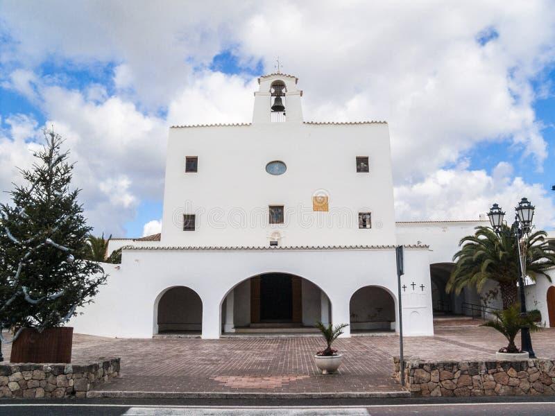 Iglesia de sa Talaia de Sant José imagen de archivo