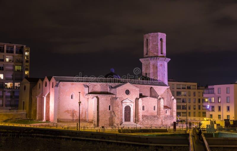 Iglesia de Saint Laurent en Marseille Provence, Francia fotografía de archivo