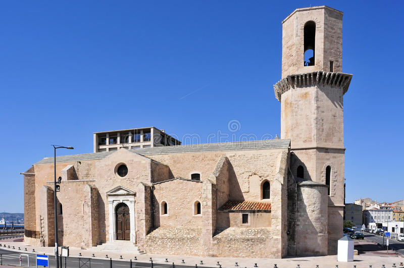 Iglesia de Saint Laurent en Marsella, Francia imagen de archivo