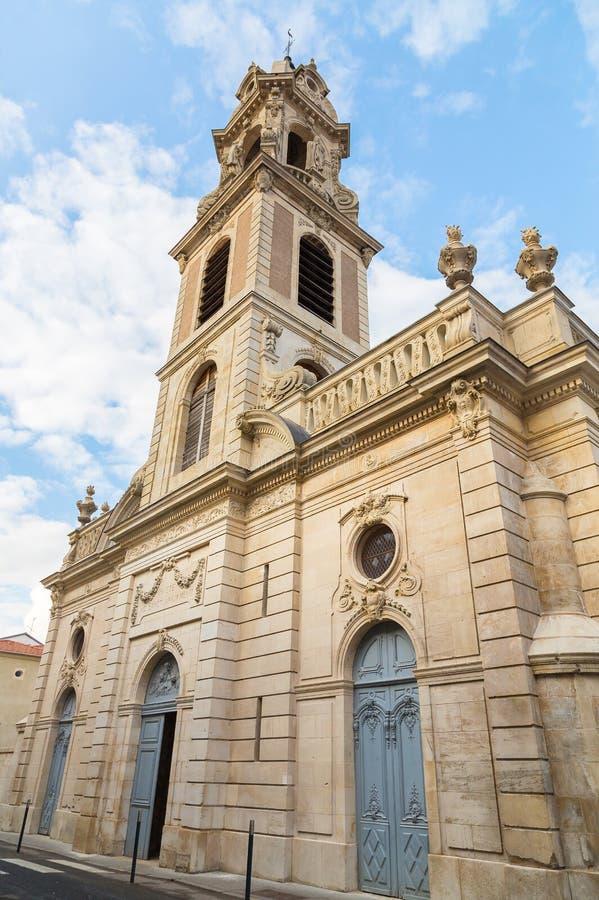 Iglesia de Saint Laurent en Pont un Mousson Francia foto de archivo libre de regalías