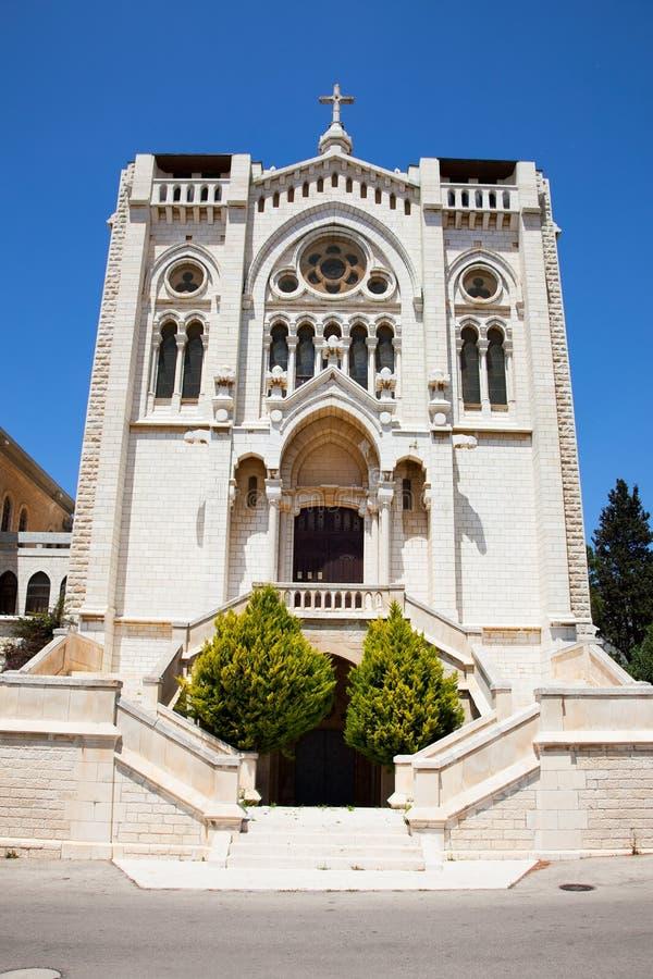Iglesia de Salesian en Nazareth, Israel foto de archivo libre de regalías