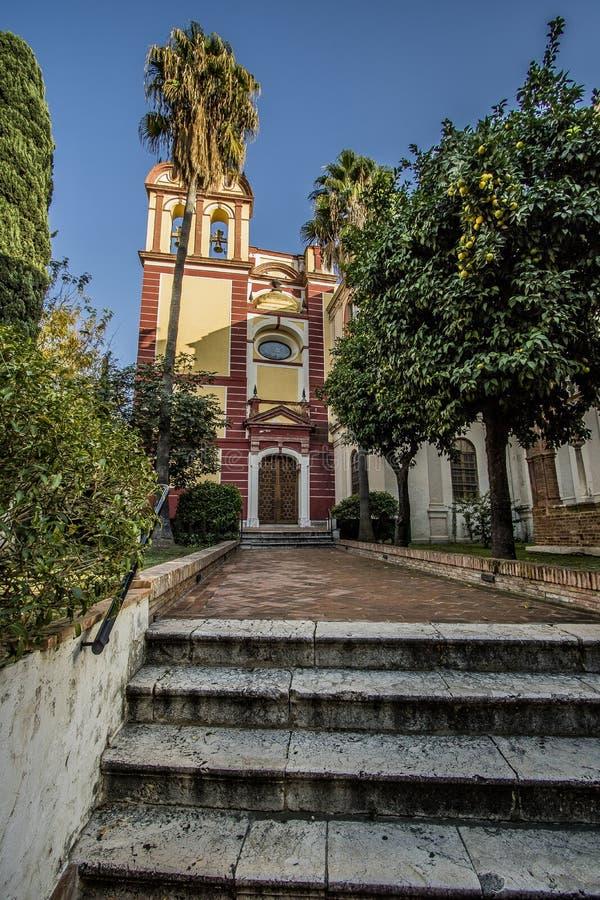 Iglesia de San Agustin, Malaga immagini stock libere da diritti