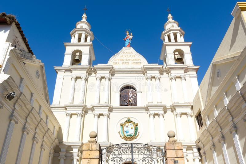 Iglesia de San Agustin, Sucre, Bolivia fotografía de archivo