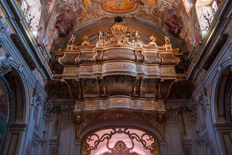 Iglesia de San Benedetto, Catania, Sicilia, Italia fotos de archivo libres de regalías