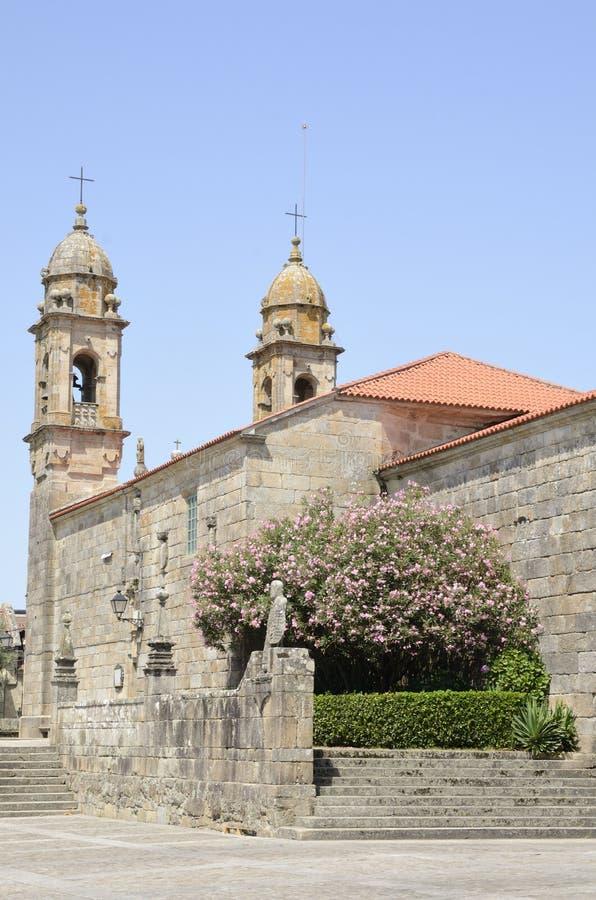 Iglesia de San Benito en Cambados imagen de archivo