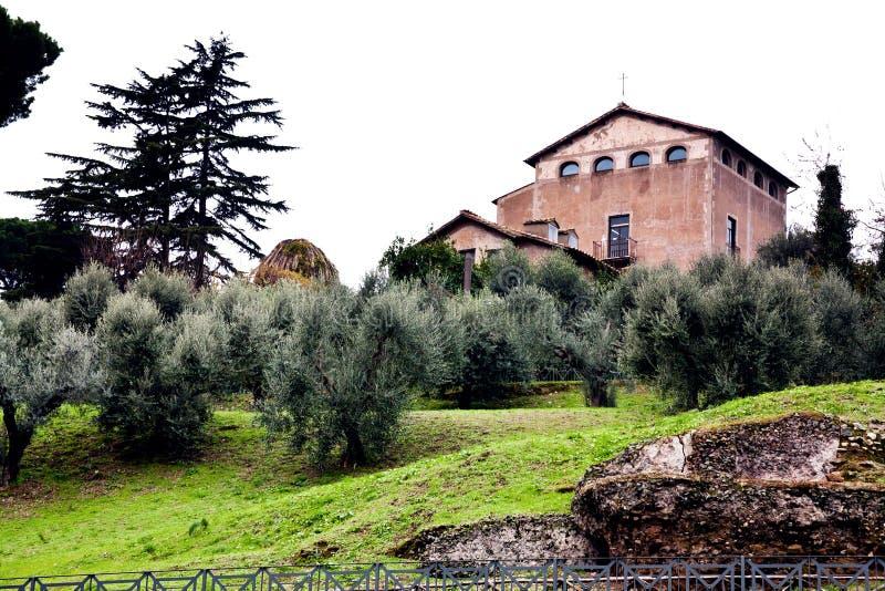 Iglesia de San Bonaventura al Palatino, Roma imagen de archivo
