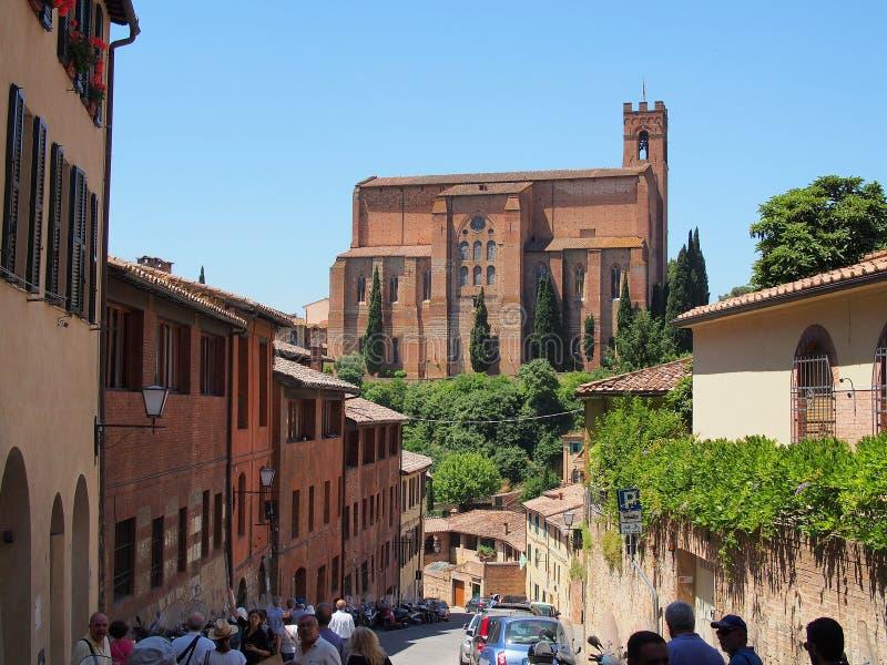 Iglesia de San Domingo en Siena, Italia imagen de archivo libre de regalías