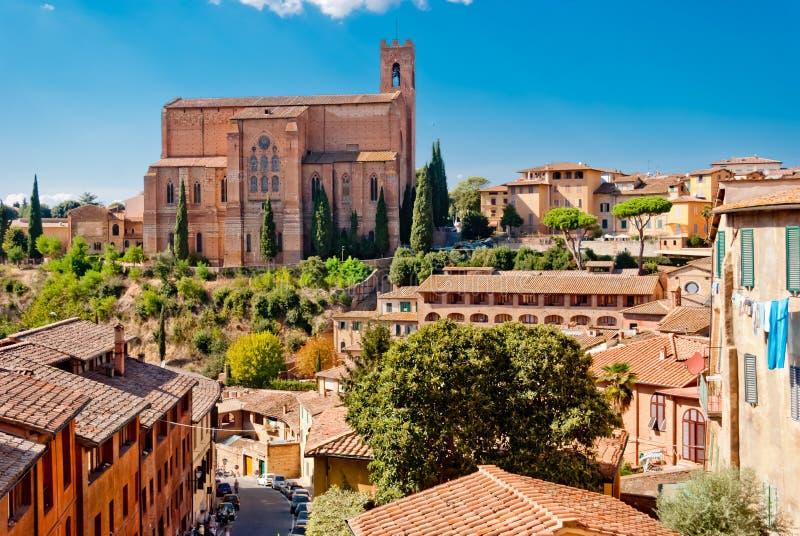 Iglesia de San Domingo, Siena imagen de archivo