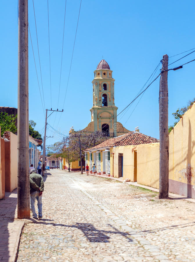 Iglesia de San Francisco de Asisin la vieille ville, Trinidad, Cuba image libre de droits