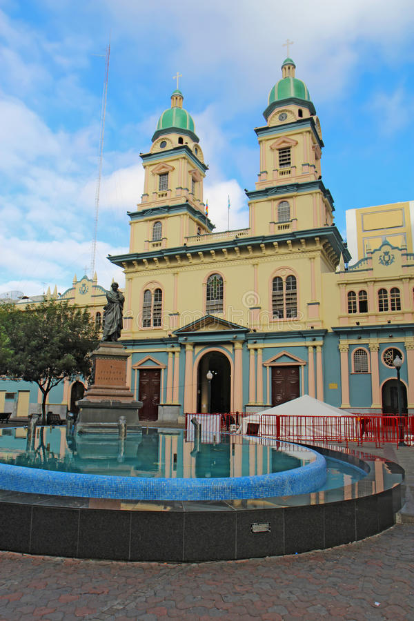 Iglesia de San Francisco en Guayaquil, Ecuador foto de archivo