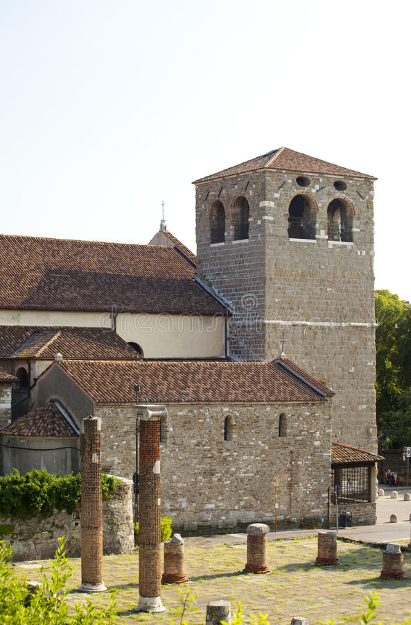 Iglesia de San Giusto, Trieste imagen de archivo libre de regalías