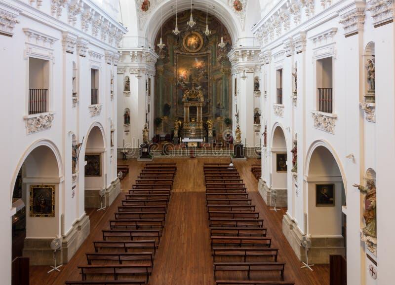 Iglesia DE San Ildefonso binnenland in Toledo Spain royalty-vrije stock foto's