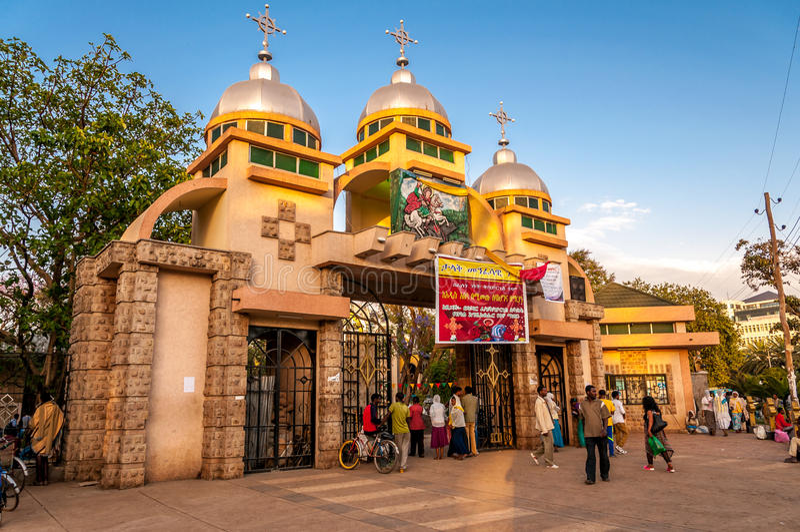 Iglesia de San Jorge en Bahir Dar fotografía de archivo libre de regalías