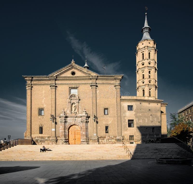 Iglesia de San Juan de los Panetes Zaragoza Igreja imagem de stock