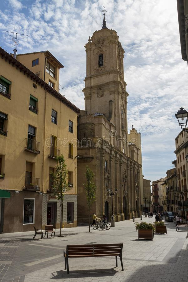 Iglesia de San Lorenzo en el centro de la ciudad de Huesca, España imagen de archivo libre de regalías