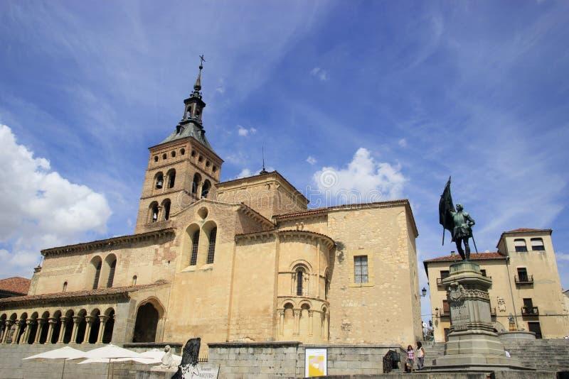 Iglesia de San MartÃn i Segovia arkivfoton