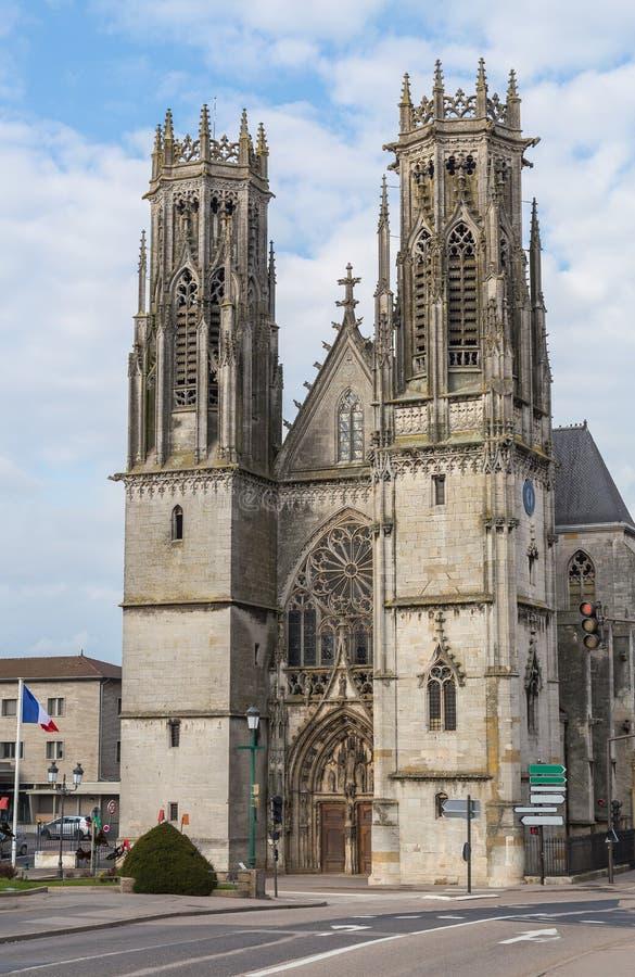 Iglesia de San Martín en Pont un Mousson Francia imagen de archivo libre de regalías