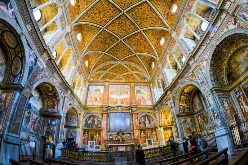 Iglesia de San Maurizio al Monastero Maggiore fotos de archivo libres de regalías