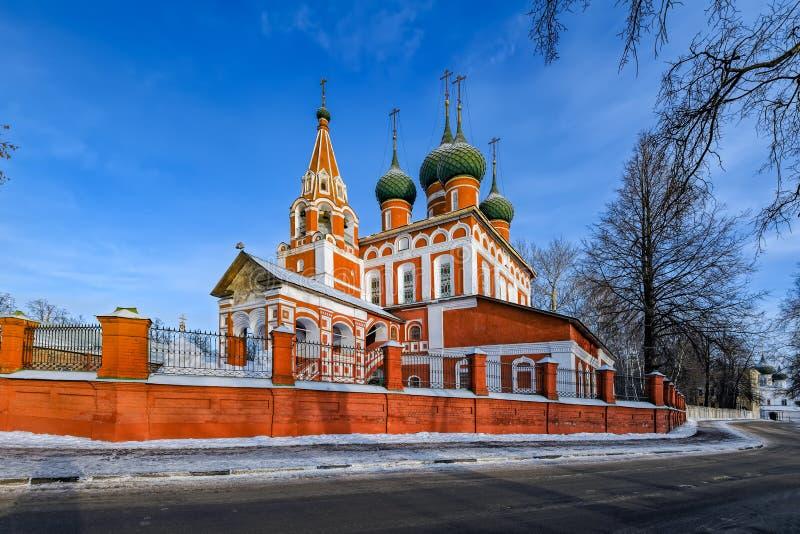 Iglesia de San Miguel el arcángel en Yaroslavl, Rusia fotos de archivo