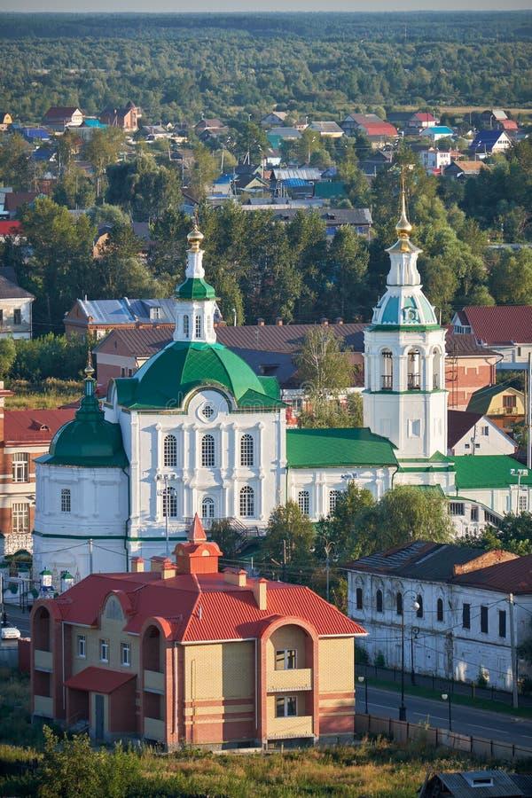 Iglesia de San Miguel el arcángel Tobolsk Rusia fotografía de archivo