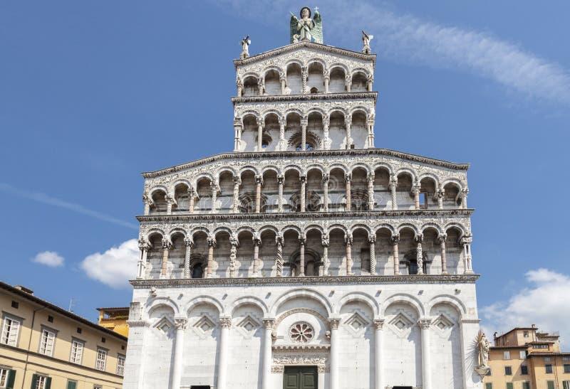 Iglesia de San Miguel en Lucca imagen de archivo libre de regalías
