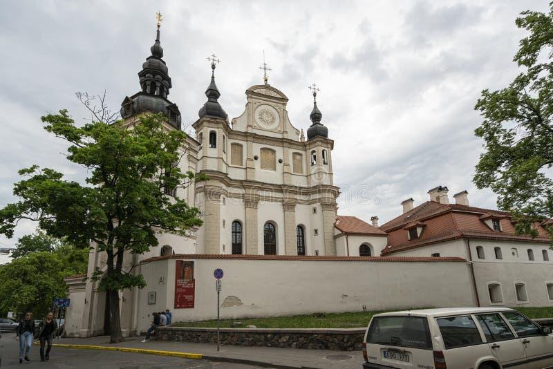 Iglesia de San Miguel, Vilna fotos de archivo