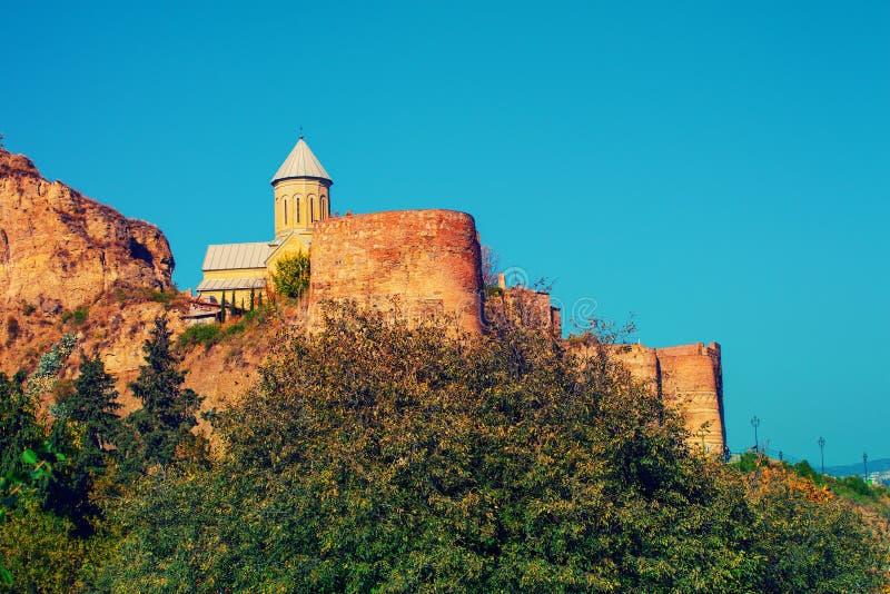 Iglesia de San Nicolás en la fortaleza de Narikala foto de archivo