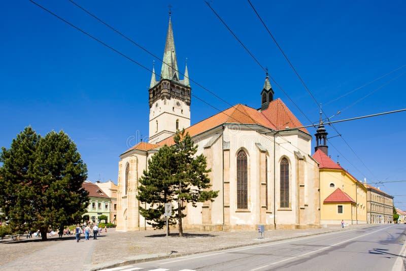 Iglesia de San Nicolás, Presov, Eslovaquia fotografía de archivo