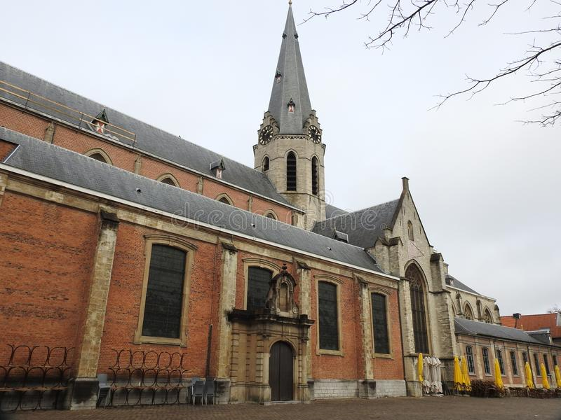 Iglesia de San Nicolás - StNiklaas - Bélgica imagen de archivo