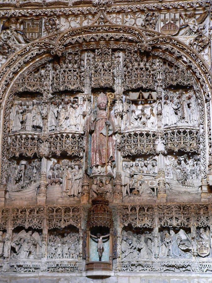 Iglesia de San Nicolas de Bari, Burgos (Spanien) stockbild