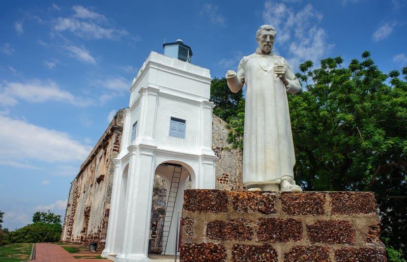 Iglesia de San Pablo, ciudad de la herencia de Malaca foto de archivo libre de regalías