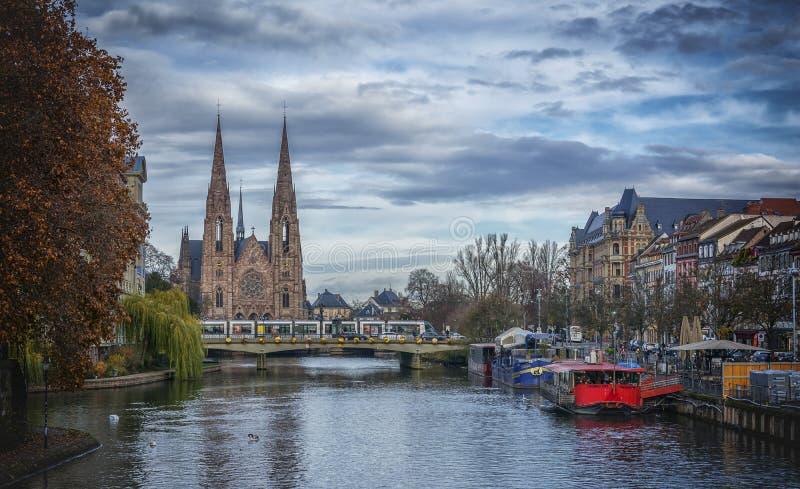 Iglesia de San Pablo en Estrasburgo, Francia fotos de archivo