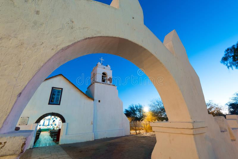 Iglesia de San Pedro de Atacama fotografía de archivo