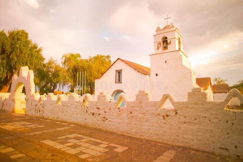 Iglesia de San Pedro de Atacama foto de archivo