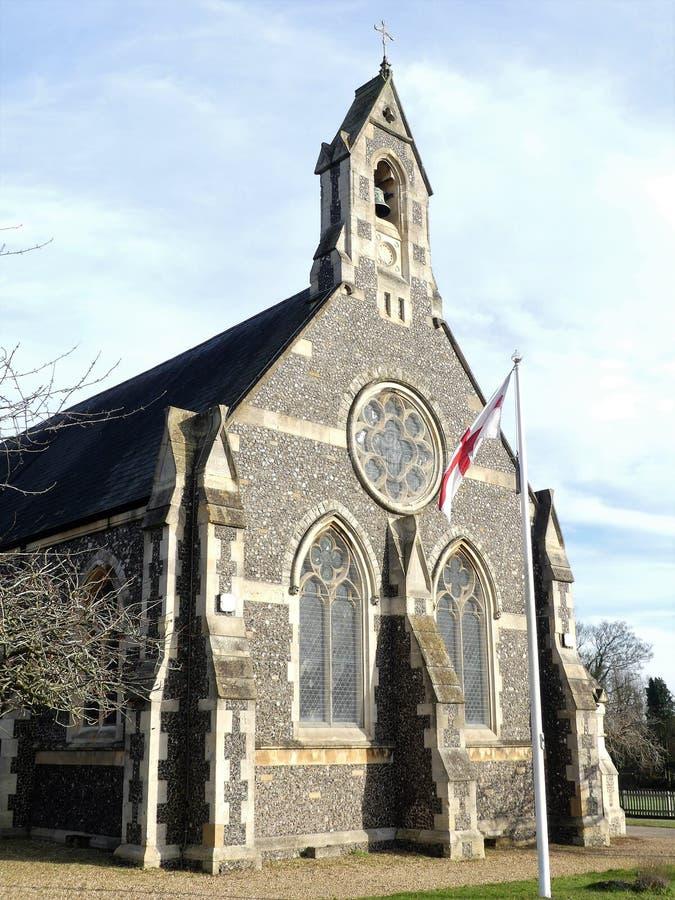 Iglesia de San Pedro el apóstol, Berry Lane, extremo del molino, Rickmansworth foto de archivo libre de regalías