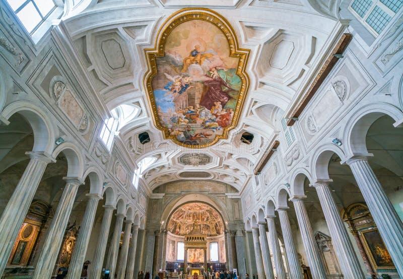 Iglesia de San Pedro en Vincoli en Roma, Italia foto de archivo libre de regalías