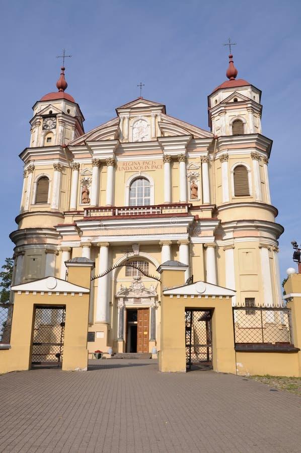Iglesia de San Pedro y de San Pablo en Vilna foto de archivo libre de regalías