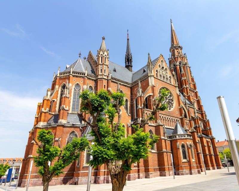 Iglesia de San Pedro y de Paul en Osijek, Croacia imágenes de archivo libres de regalías