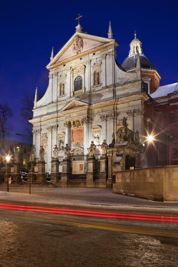 Iglesia de San Pedro y San Pablo - Kraków - Polonia fotografía de archivo libre de regalías