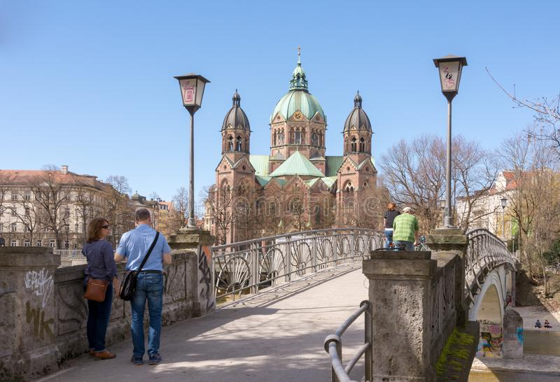 Iglesia de Sankt Lukas en Munich imágenes de archivo libres de regalías