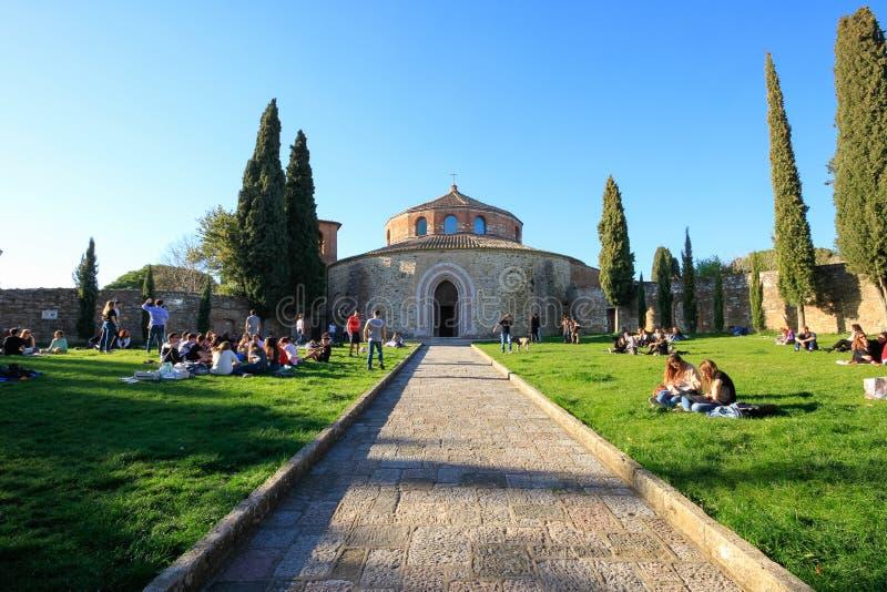 Iglesia de Sant 'Ángel en Perugia, Italia fotografía de archivo libre de regalías