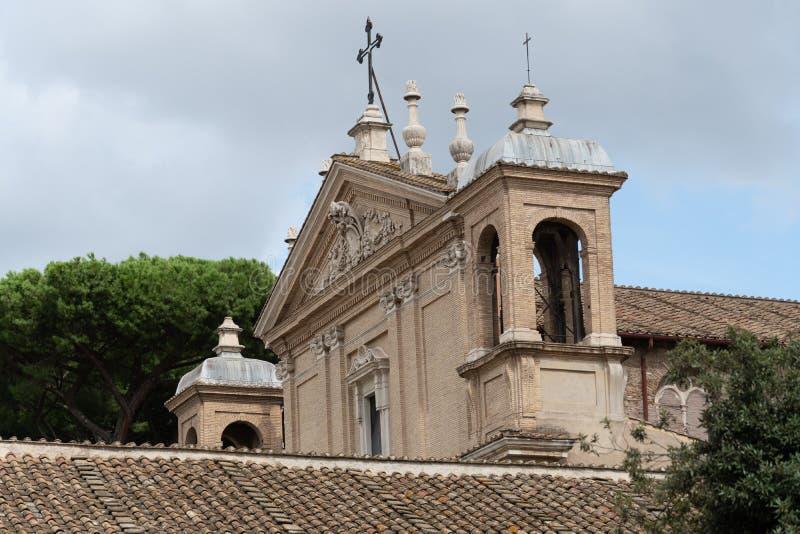 Iglesia de Sant 'Anastasia al Palatino, Roma, Italia imágenes de archivo libres de regalías
