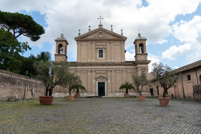 Iglesia de Sant 'Anastasia al Palatino, Roma, Italia imagen de archivo