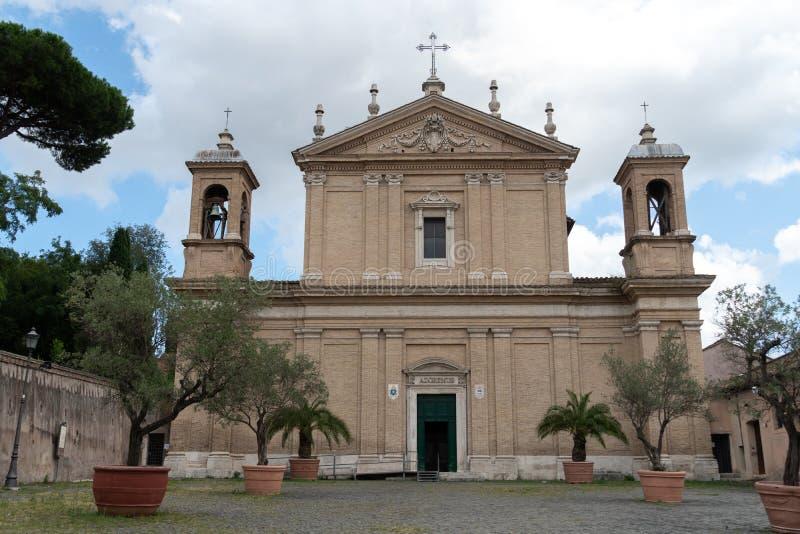 Iglesia de Sant 'Anastasia al Palatino, Roma, Italia foto de archivo libre de regalías