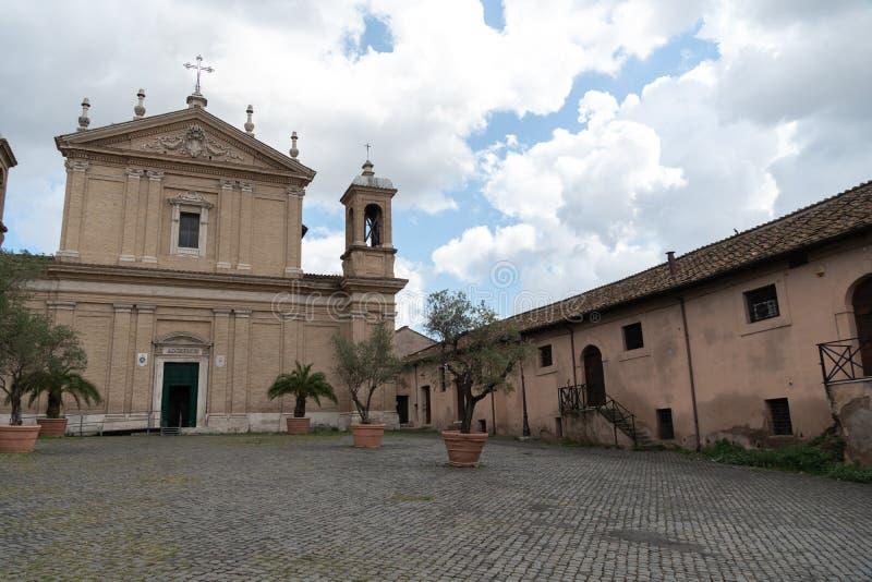 Iglesia de Sant 'Anastasia al Palatino, Roma, Italia foto de archivo
