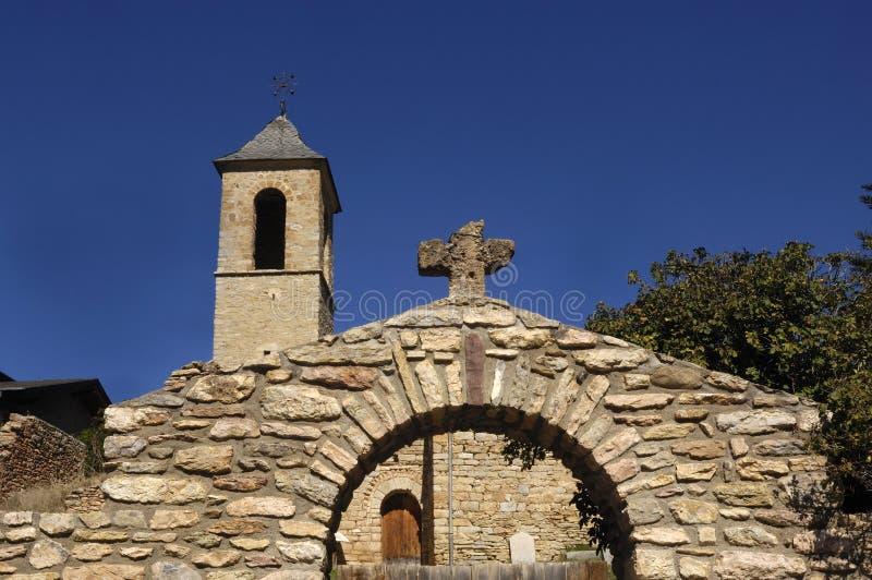 Iglesia de Sant Andreu de Baltarga, Bellver de Cerdanya imagenes de archivo