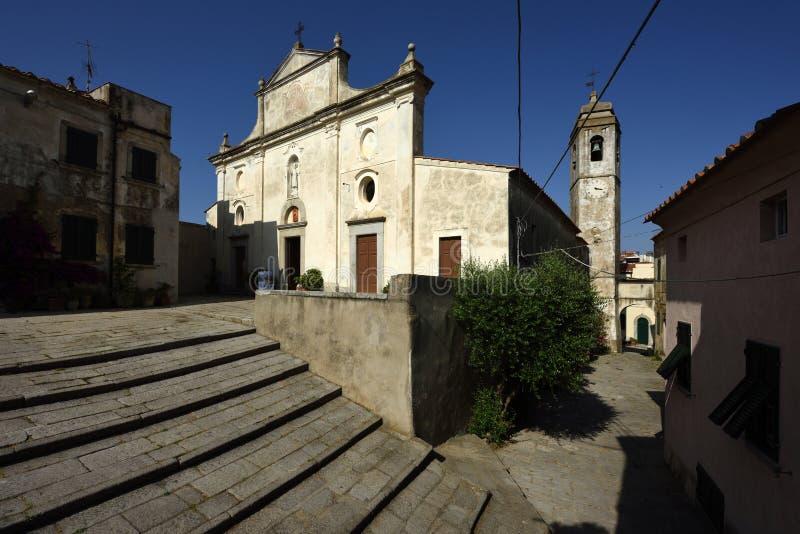 Iglesia de Sant Ilario en Campo, Elba, Toscana, Italia imagen de archivo