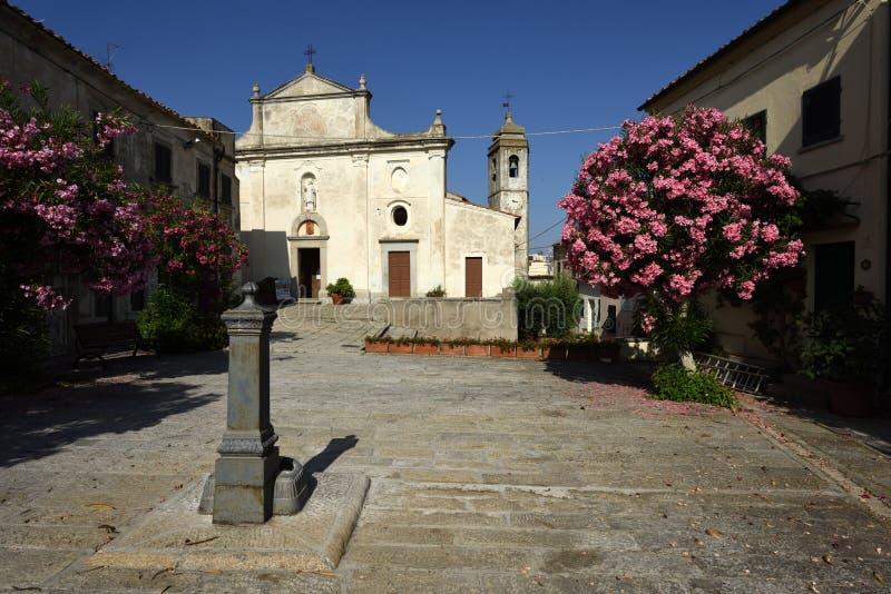 Iglesia de Sant Ilario en Campo, Elba, Toscana, Italia fotografía de archivo libre de regalías