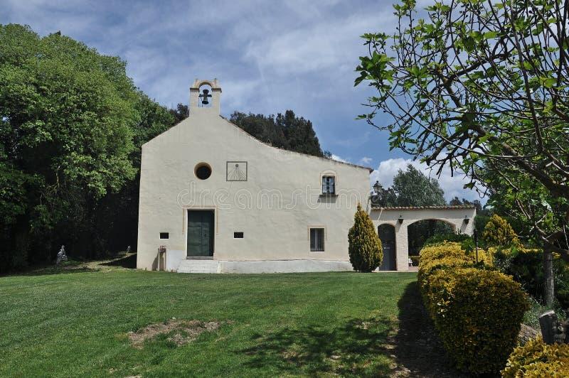 Iglesia de Sant Llop-Dosrius fotos de archivo