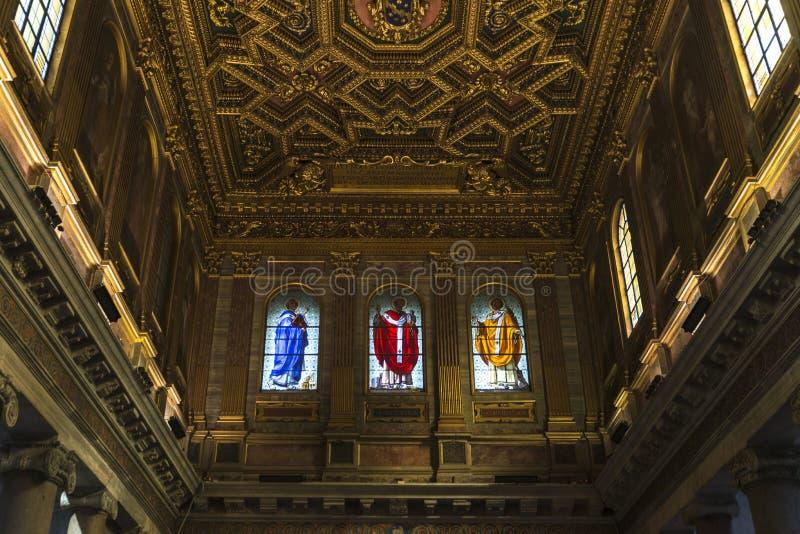 Iglesia de Santa Cecilia en Trastevere, Roma, Italia imagen de archivo